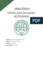 Trabajo práctico Debates sobre los origenes del peronismo