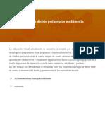 Premisas para un diseño pedagógico multimedia