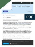 Acceder a MySQL desde terminal en Linux