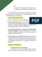 TEXTOS DESCRIPTIVOS Y ARGUMENTATIVOS