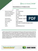 Comprobante de Transferencia DEVOLUCION 10 DOLARES JOSUE A JULEXI