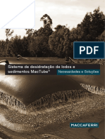 Sistema de desidratação de lodos e sedimentos