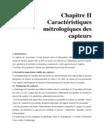 Chapitre II_Caractéristiques métrologiques des capteurs