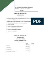 ACTIVIDAD 6. RAZONES O INDICADORES FINANCIEROS