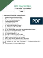 ACTIVIDADES DE REPASO ÁMBITO COMUNICATIVO LENGUA