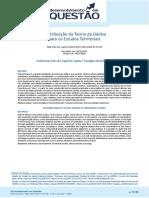 Contribuição Da Teoria Da Dádiva Para Os Estudos Territoriais