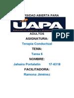 TAREA 6 DE TERAPIA CONDUCTUAL