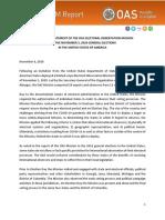 Preliminary Report of the OAS EOM USA 2020