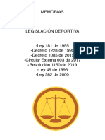 Compilado  legislacion deportiva