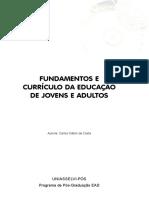 FUNDAMENTOS E CURRÍCULO DA EDUCAÇÃO DE JOVENS E ADULTOS