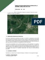 TDR Estudio hidrológico e hidraulico