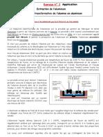 Exercice corrigé n°2  extraction de-l'Aluminium