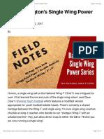 Rick Darlington's Single Wing Power Series – Wing-T Youth Football Coach