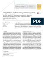 Adhesive distribution related to mechanical performance of high density