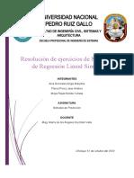 Resolución de ejercicios de Modelos de Regresión Lineal Simple