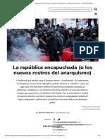 La república encapuchada (o los nuevos rostros del anarquismo) - por Marcelo Somarriva - Revista Santiago