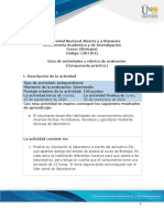 Guía de actividades y rúbrica de evaluación  componente práctico presencial