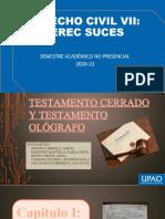 Testamento Cerrado y Ológrafo SUCESIONES g.3[1.1) (1)