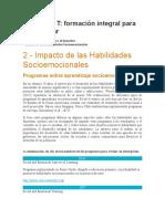 2.- Impacto de las Habilidades Socioemocionales