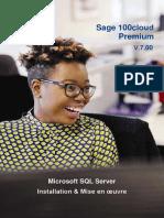 Déploiement Sage 100c MS SQL Server pour Premium
