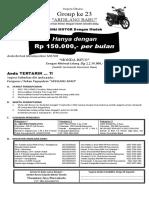 Brosur Ok Nih Brosur Arisan Motor 2020