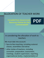 ALLOCATION OF TEACHER WORK