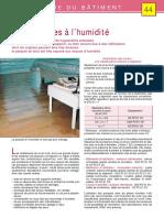 -44- Le Parquet Et Les Risques à l'Humidité