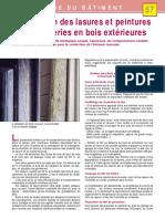 -57-Dégradation Des Lasures Et Peintures Sur Menuiseries en Bois Extérieures