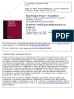 badley2009 Academic writing as shaping and re-shaping