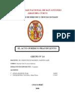 ACTO JURIDICO FRAUDULENTO - INFORME