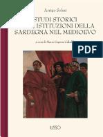 Solmi - Studi istituzioni medievali della Sardegna