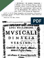 Lodi Bellissime Musicali Di Maria Vergine (A. Albani)