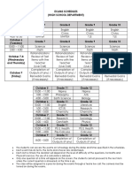 First Mastery Exams Schedules