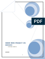 SHRM MINI PROJECT ON INFOSYS