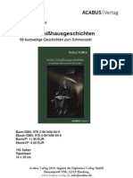"""Press Release """"Kleine Scheißhausgeschichten"""" von Markus Walther"""