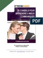 25 conseils pour mieux communiquer