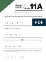 2019 WMI Grade 11 Questions Part 1-英