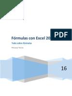 Fórmulas - Excel 2016