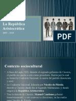 LA REPUBLICA ARISTOCRATICA