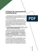 CRITERIOS DE INTERPRETACION CONSTITUCIONAL
