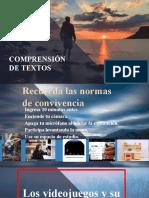COMPRENSIÓN DE TEXTOS - LOS VIDEOJUEGOS