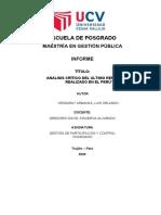 INFORME CRÍTICO ULTIMO CASO DE REFORMA EN EL PERÚ