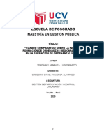 Cuadro comparativo sobre la Iniciativa en la formación de Ordenanzas Regionales y Iniciati