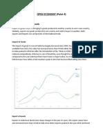 Open Economy Interim Progress Report Macroeconomics