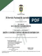 TABLEROS DE DISTRIBUCION CONSTANCIA