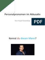 Personalpronomen im Akkusativ