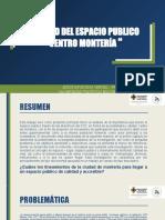 CALIDAD DEL ESPACIO PUBLICO MONTERIA