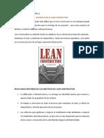 INTRODUCCION LEAN CONSTRUCCIÓN GRUPO 01 (MACHACA DIAZ Y BELLIDO)