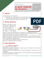 TP - Caracteristiques spatio-temporelle d une onde ultrasonore