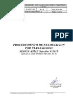 Procedimiento IT-ET- UT-001 Rev 0  ASME SECCION VIII -2015 Español